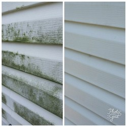 Exterior House Cleaning Before & After